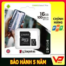 { Tặng Adapter }Thẻ nhớ Micro SD 16Gb KingSton 100Mb/s siêu bền cho camera hành trình và định vị