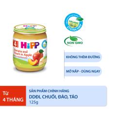 [QUÀ TẶNG HOT] Thức ăn dặm dinh dưỡng đóng lọ Chuối, đào, táo HiPP Organic 125g
