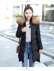 Mùa Đông Áo Bông Nữ 2018 Mẫu Mới Kiểu Hàn Quốc Dài Ôm Áo Bông Dày Liền Mũ Lông Vũ Quần Áo Cotton Áo Khoác Quần Áo Mùa Đông
