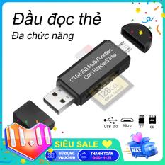 【New Be】USB 2.0 + OTG Micro SD / SDXC Bộ đọc thẻ TF Bộ điều hợp đa chức năng U Đĩa PC Điện thoại Bộ đọc thẻ nhớ