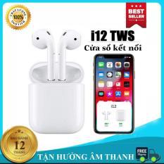 Tai nghe Bluetooth Không Dây i12s Bản Nâng Cấp Chip 5.0, Tai Nghe Không Dây CHẤT LƯỢNG TỐT, Tai Nghe Bluetooth Mini