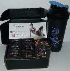 COMBO Bình lắc,Whey Protein & California Voucher