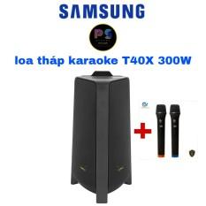 loa tháp karaoke samsung T40X 300W tặng 1 bộ mic không dây cao cấp
