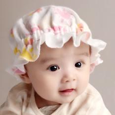 Mũ tai bèo cotton nỉ co dãn cho bé sơ sinh 0-3m