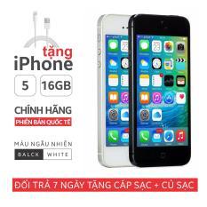 Điện thoại IPHONE 5 – 16GB giá rẻ – Phiên bản quốc tế – Bao đổi trả (BẢO HANH 6 THÁNG) MUA CÁP ĐƯỢC TẶNG ĐIỆN THOAI IPHONE 5