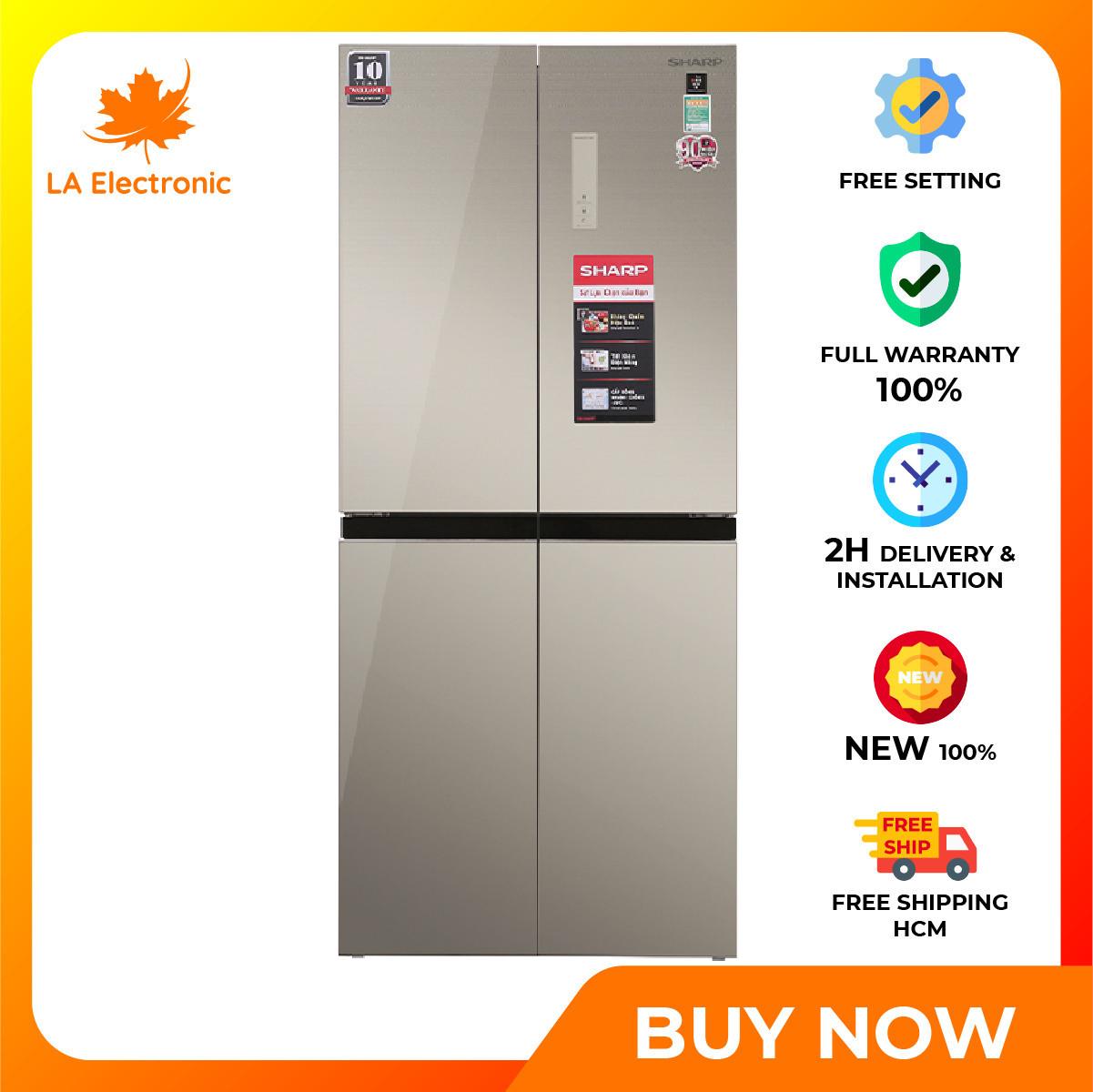 Installment 0% – Sharp Inverter 401-liter refrigerator SJ-FXP480VG-CH New 2020