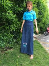Váy chống nắng jean