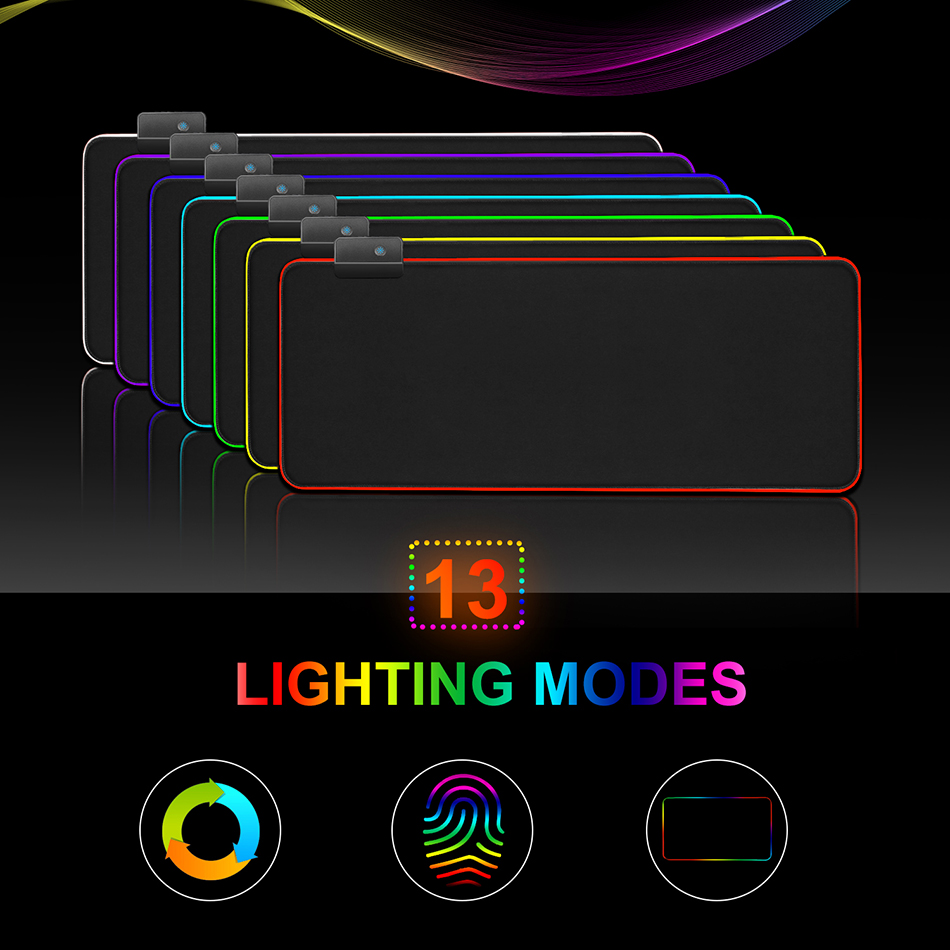 CHOETECH RGB Gaming Mouse Pad Large Mouse Pad Gamer Led Computer Mousepad Big Mouse Mat with Backlight Carpet For keyboard...