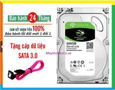 Ổ Cứng HDD 500GB Seagate Barracuda ( PC ) Máy Tính Để Bàn , Lưu Dữ Liệu , Chất Lượng Đỉnh Cao , Bảo Hành 24 Tháng