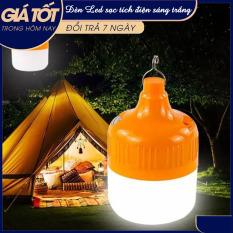 Bóng đèn LED sạc tích điện, đèn led sạc pin ánh sáng trắng kèm móc treo, bóng đèn gia dụng ánh sáng trắng, chống thấm nước, tiết kiệm năng lượng , BÓNG ĐÈN LED TÍCH ĐIỆN 40W – 100W