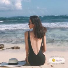 Bikini đi biển cao cấp khoét V lưng sâu sexy màu đen (hình chụp thật)