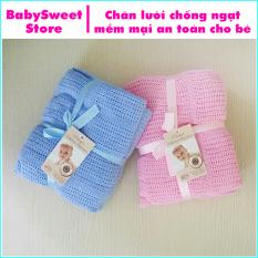 Chăn lưới, chăn sơ sinh, chăn đắp hè chống ngạt cho bé – Mền lưới chống ngạt cho bé ( 90x120cm)