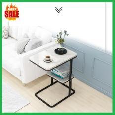 Bàn trà mặt vân đá, chân sắt, 2 tầng( hàng hot), bàn cafe, bàn uống nước