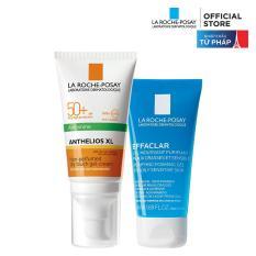 Bộ kem chống nắng và làm sạch cho da dầu La Roche-Posay Anthelios Dry Touch 50ml