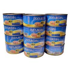 Cá ngừ trắng đóng hộp PREMIERIN 185g/130g – BIG PACK 12 lon