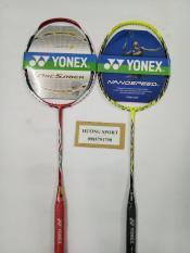 Combo 2 vợt cầu lông Yonex khung carbon – tặng căng cước, quấn cán, bao vợt