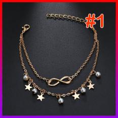 Vòng tay/Lắc chân đôi hạt Ngọc Lucky star / Tim / Bướm style HÀN – NHShop