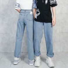 Quần JEAN BASIC SUÔNG Unisex N7 Oversize Nam Nữ phong cách Hàn Quốc Ullzang thời trang đường phố mùa hè