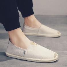 Giày Lười Vải Thời Trang Nam Cao Cấp ZAPPOS GLV01( mua 2 sp tặng 1 đôi tất), giày form nhỏ đặt lớn hơn 1 size