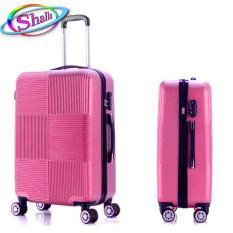 vali nhựa 24 inch vuông caro Shalla VL34