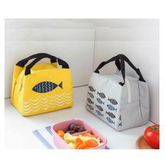 Túi giữ nhiệt đựng hộp cơm đồ ăn kiểu Nhật dễ dàng lau sạch không bị ám mùi siêu tiện dụng VHN2394
