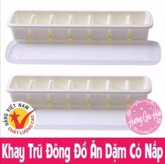 Khay Trữ Đông Đồ Ăn Dặm 7 Ô. Khay làm đá có Nắp Đậy, Nhựa Việt Nhật – Made In Việt Nam