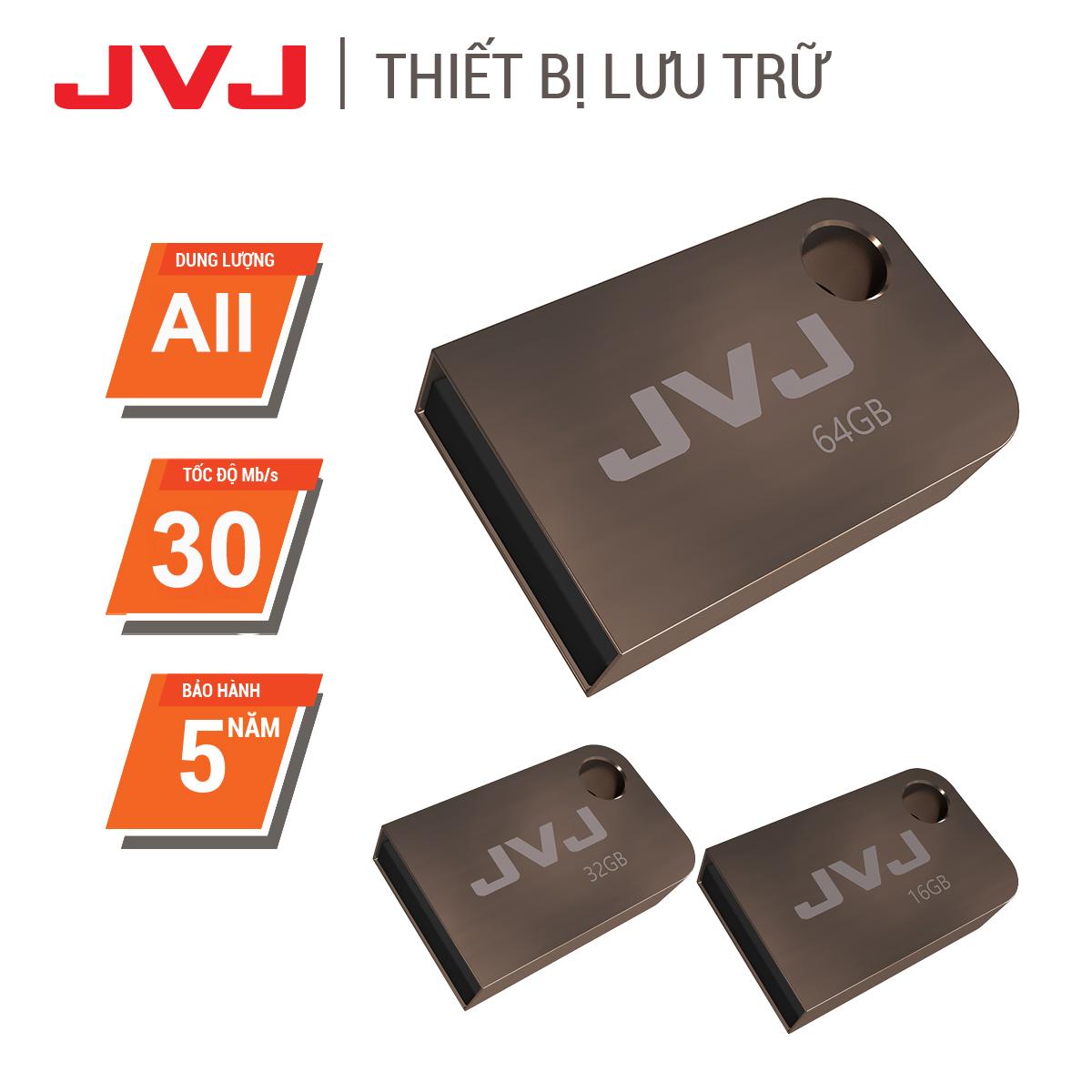 USB 64G/32G/16G JVJ S2 siêu nhỏ vỏ kim loại – USB 2.0, tốc độ upto 100MB/s siêu nhỏ chống sốc chống nước, thiết kế vỏ nhôm nhỏ gọn, Flash Drive đầu kim loại siêu nhẹ kết nối nhanh Bảo hành 2 Năm 1 đổi 1 chính hãng