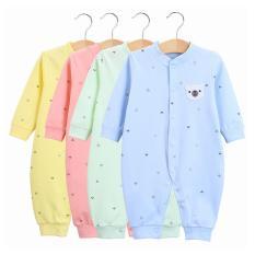 Bodysuit dài tay cotton cho bé trai bé gái từ 1- 12 tháng tuổi (áo liền quần, bodysuit, sleep suit, body liền thân, bộ liền tay) TTS222