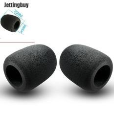 Jettingbuy 2 cái vỏ bọc micrô bằng xốp màu đen kích thước 75*60mm giúp chống tiếng ồn của gió thích hợp với mọi micrô phổ biến – INTL