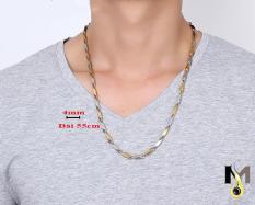 Dây chuyền Inox nam Hỏa tiễn 4ly trắng vàng – Nam tính, thời trang