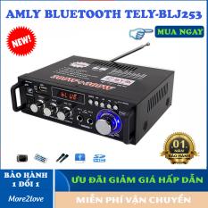 Amply Bluetooth công suất lớn- Bass khỏe âm thanh sống động ,Tự Động Lọc Nhiễu, Hỗ Trợ Khe Cắm Thẻ Nhớ, Trang Bị Điều Khiển Từ Xa, Dễ Dàng Di Chuyển – Mua Âm ly hát karaoke tại nhà – Amli nghe nhạc hay – More2love