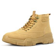 Giày Boot Cổ Cao Nam Cao Cấp Giả Da Lộn BCC001 Nâu