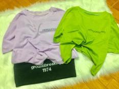 Set 2 Áo Croptop Nữ, Màu Sắc Đa Dạng, Chất Liệu Thun Cotton Thoáng Mát Co Giãn Tốt, Phong Cách Trẻ Trung Năng Động Cá Tính