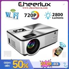 Máy chiếu mini Cheerlux C9 WIFI HD độ sáng 2800 lumens kết nối không dây với điện thoại. Bảo hành 12 tháng.