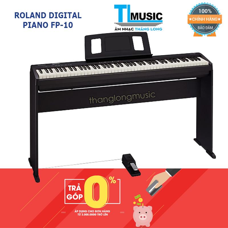 (Hỗ trợ trả góp 0%) Piano Điện Tử Roland FP10 – Digital Piano Roland FP-10 Kết Nối Blueooth – Tặng khăn phú