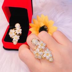 Nhẫn nữ vàng 18k Midoshop VN15061904 – đeo đi tiệc đi chơi làm công sở cực sang chảnh và quý phái