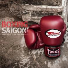 Găng tay Boxing Muay Thai Twins chính hãng Thái Lan ( Đỏ đô )