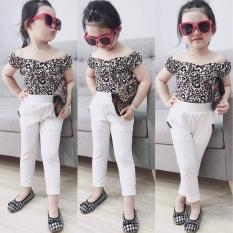 Bộ quần áo bé gái, sét bộ bé gái áo beo quần ôm siêu cá tính cho bé gái từ 1 tuổi đến 7 tuôi
