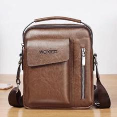 Túi đeo chéo nam thời trang Túi da PU đựng Ipad, điện thoại, ví, đồ cá nhân size 24x20x6cm (Nâu) NAAA1