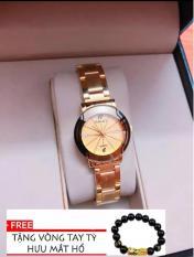 đồng hồ nữ halei dây vàng ,máy nhật ,HL01212 chỗng nước ,chống xước tốt