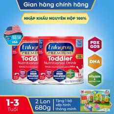 [FREESHIP] [Nhập khẩu chính ngạch từ USA] Bộ 2 lon Thức uống dinh dưỡng Enfagrow Premium Toddler Hương sữa tự nhiên 680g + Bộ xếp hình thông minh