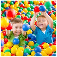 Túi 100 quả bóng nhựa nhiều màu, banh nhựa cho bé thỏa sức vui chơi – Guty Mart