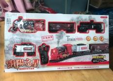 Bộ đồ chơi tàu hỏa Điều khiển từ xa lắp ráp chạy 4 viên pin sạc có Ray