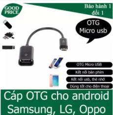 Cáp OTG Micro usb, Type C ra USB cho điện thoại kết nối USB, thẻ nhớ, USB 3G,( màu đen)