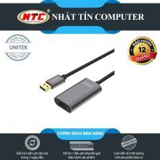 [SALE OFF] Cáp USB nối dài Unitek Y-271 dài 5m lõi đồng KHÔNG BOX – hỗ trợ tương thích ngược (Đen)