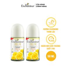 [Voucher 20k][Freeship] Combo 2 Lăn khử mùi nước hoa Enchanteur Charming 50ml/ Chai