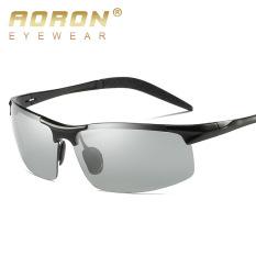 Kính NAM, Kính đổi màu đi ngày và đêm cao cấp AORON8177 gọng Nhôm Magiê nhẹ, mắt kính polarized phân cực chống UV chuẩn 400