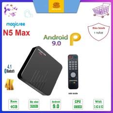 [Có video] Android Tivi Box Magicsee N5 MAX Ram 4GB – Rom 32GB – Chip S905X3- Bluetooth 4.1- USB 3.0 – Model 2020 Chíp S905X3