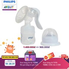 Hút sữa bằng tay Philips Avent (Bình PP mô phỏng tự nhiên) SCF330/20