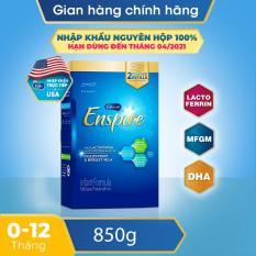 [FREESHIP] [Nhập khẩu Mỹ] Sữa bột Enfamil Enspire Infant 850g dành cho trẻ 0-12 tháng tuổi (hộp 2 túi thiếc 425g). Có chứa MFGM và Lactoferrin